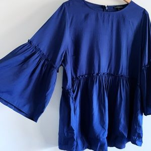Lane Bryant Peplum top with Bell Sleeves (14/16)